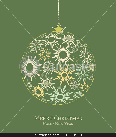 Christmas background stock vector clipart, Christmas decoration made from snowflakes by Miroslava Hlavacova