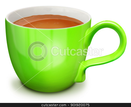 Illustrated Cup of Cappuccino stock photo, Illustrated Cup of Cappuccino by Bill Fleming