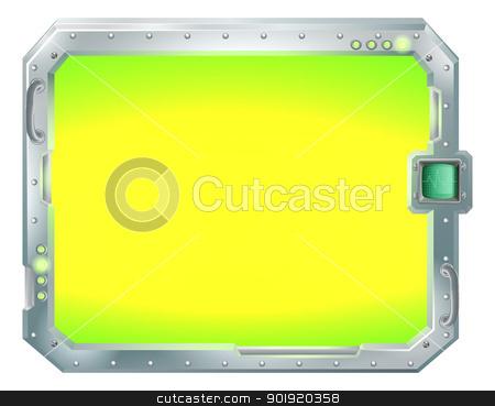 Futuristic screen or sign border frame stock vector clipart, Illustration of a futuristic screen or sign border frame by Christos Georghiou