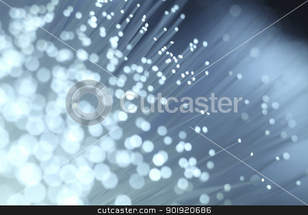 fiber optic stock photo, close up of bundle of fiber optic by eskaylim