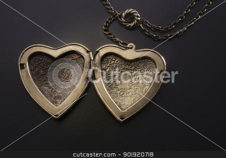 heart shape stock photo, heart shape of the necklace by eskaylim