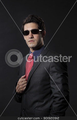 businessman portrait stock photo, close up of the man with business suit by eskaylim