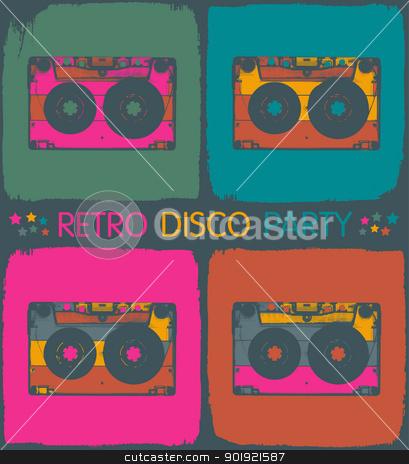 Retro disco party invitation in pop-art style. Vector, EPS8 stock vector clipart, Retro disco party invitation in pop-art style. Vector, EPS8 by pashabo