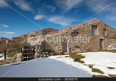 Country houses in Picos de Europa, Asturias, Spain stock photo, Country houses in Picos de Europa, Asturias, Spain by B.F.