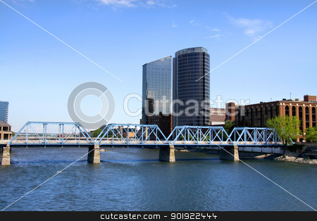Downtown Grand Rapids stock photo, Beautiful Downtown Grand Rapids in Michigan by Sreedhar Yedlapati