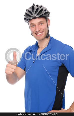 Rider stock photo, Full isolated studio picture from a young biker by Picturehunter