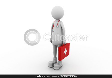 3d Doctor  stock photo, 3d Doctor  by dileep