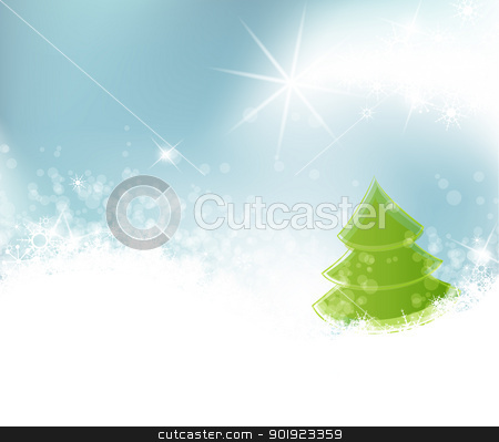 Christmas background stock vector clipart, Winter landscape on the background, vector illustration by Miroslava Hlavacova