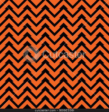 Seamless Zig-Zag Pattern stock photo, Orange and black zig zag chevron pattern. Seamless. by SongPixels