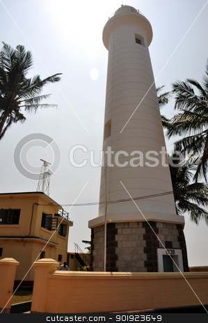 lighthouse stock photo, galle lighthouse by malaysiaguy