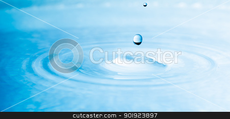 close up drop of water stock photo, close up drop of water blue color by moggara12