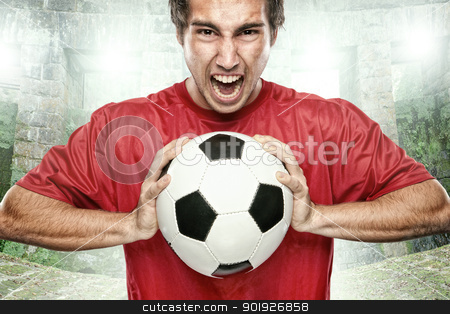 Soccer stock photo, Soccer player by Picturehunter