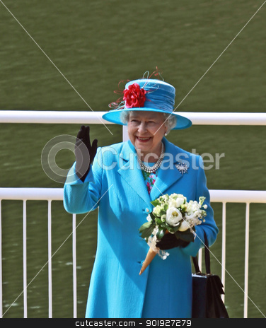 Queen Elizabeth II stock photo, SCARBOROUGH, ENGLAND - MAY 20 2010: Her Royal Highness Queen Elizabeth II at opening of Royal Open Air Theater, Scarborough, North Yorkshire, England. by Martin Crowdy