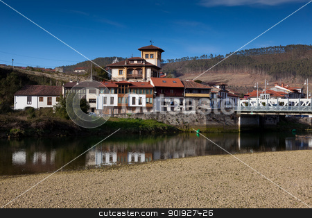 Village of Unquera, Cantabria, Spain stock photo, Village of Unquera, Cantabria, Spain by B.F.