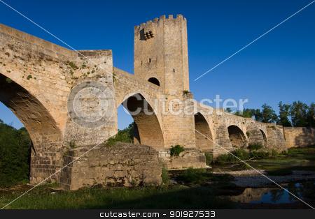 Roman bridge, Frias, Burgos, Castilla y Leon, Spain stock photo, Roman bridge, Frias, Burgos, Castilla y Leon, Spain by B.F.