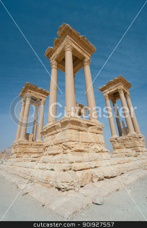 Ruins in Palmira, Syria stock photo, Ruins in Palmira, Syria by B.F.