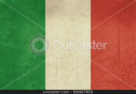 Grunge Italy flag stock photo, Grunge sovereign state flag of country of Italy in official colors. by Martin Crowdy