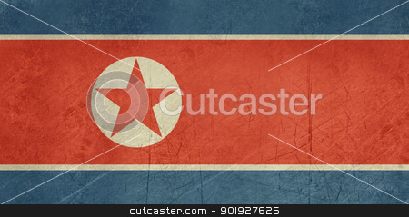 Grunge North Korea flag stock photo, Grunge sovereign state flag of country of North Korea in official colors. by Martin Crowdy
