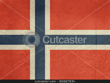 Grunge Norway Flag stock photo, Grunge sovereign state flag of country of Norway in official colors. by Martin Crowdy