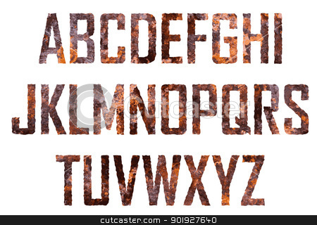 Rusted letters stock vector clipart, Rusted big letters by vtorous