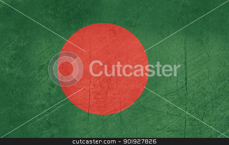 Grunge Bangladesh Flag stock photo, Grunge sovereign state flag of country of Bangladesh in official colors. by Martin Crowdy