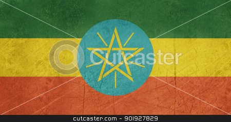 Grunge Ethiopia Flag stock photo, Grunge sovereign state flag of country of Ethiopia  in official colors. by Martin Crowdy