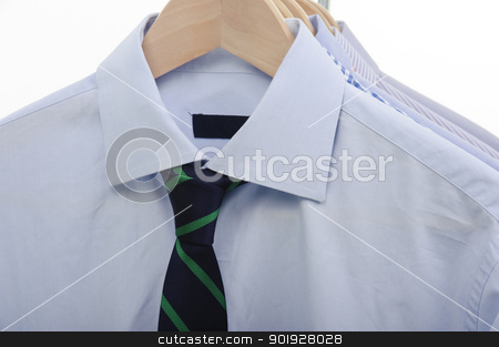 necktie and shirts stock photo, shirts and necktie isolated on whitebackground by tommaso79