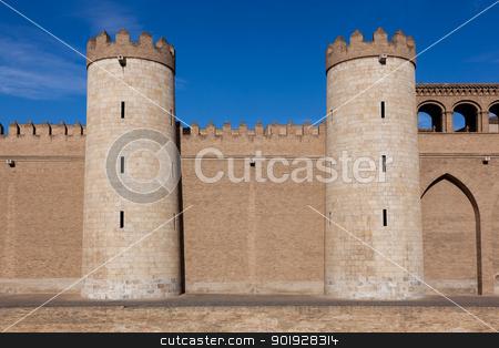 Aljaferia palace, Zaragoza, Aragon, Spain stock photo, Aljaferia palace, Zaragoza, Aragon, Spain by B.F.