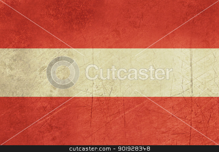 Grunge Austria flag stock photo, Grunge sovereign state flag of country of Austria in official colors.  by Martin Crowdy