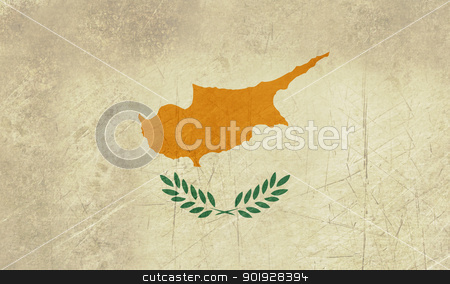 Grunge Cyprus Flag stock photo, Grunge covereign state flag of country of Cyprus in official colors. by Martin Crowdy