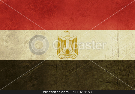 Grunge Egypt flag stock photo, Grunge sovereign state flag of country of Egypt in official colors. by Martin Crowdy