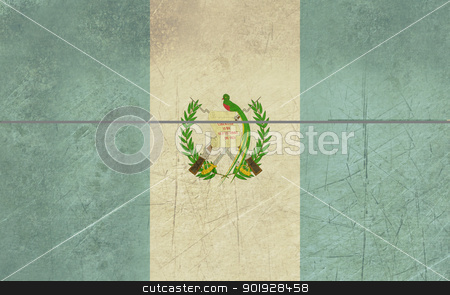Grunge Guatemala Flag stock photo, Grunge sovereign state flag of country of Guatemala in official colors. by Martin Crowdy