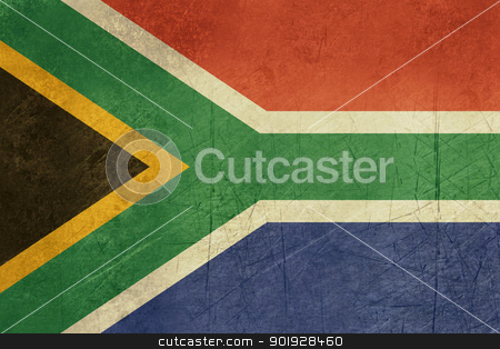 Grunge South Africa Flag stock photo, Grunge sovereign state flag of country of South Africa in official colors.  by Martin Crowdy