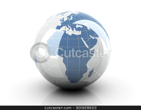 Globe - Europe, Africa stock photo, 3D rendered Illustration. by Michael Osterrieder