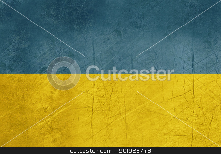 Grunge Ukraine Flag stock photo, Grunge sovereign state flag of country of Ukraine in official colors.  by Martin Crowdy