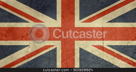 Grunge United Kingdom Flag stock photo, Grunge sovereign state flag of country of United Kingdom in official colors.  by Martin Crowdy
