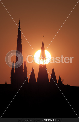Silhouette in Bordeaux, Aquitaine, France stock photo, Silhouette in Bordeaux, Aquitaine, France by B.F.