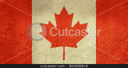 Grunge Canada Flag stock photo, Grunge sovereign state flag of country of Canada in official colors. by Martin Crowdy