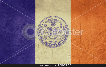 Grunge New York city flag stock photo, Grunge flag of New York city in the U.S.A  by Martin Crowdy
