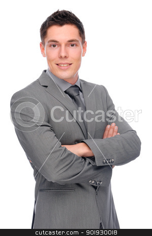Businessman stock photo, Full isolated studio picture from a young businessman by Picturehunter