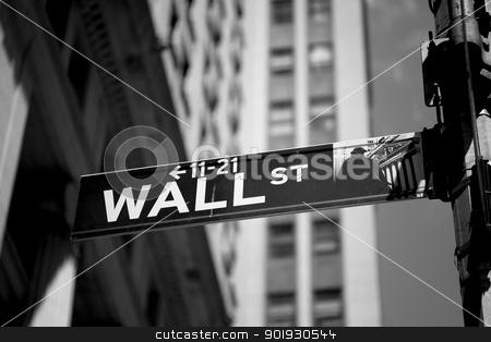Wall street, New York, USA stock photo, Wall street, New York, USA by B.F.