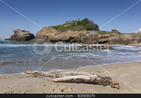Beach of Biarritz, Aquitaine, France stock photo, Beach of Biarritz, Aquitaine, France by B.F.
