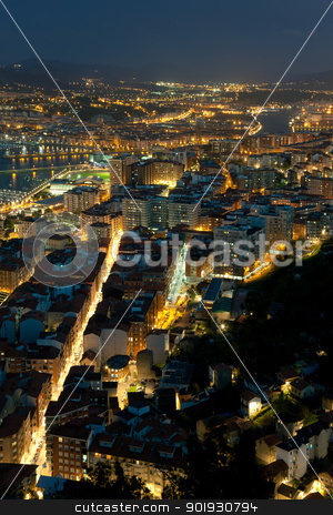 Nightfall in Santurtzi, Bizkaia, Spain stock photo, Nightfall in Santurtzi, Bizkaia, Spain by B.F.