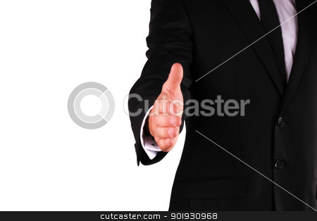Businessman hand stock photo, Businessman hand reached to seal the agreemented by georgenightingale