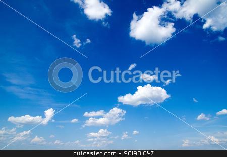 blue sky  stock photo, blue sky background with a tiny clouds     by Vitaliy Pakhnyushchyy