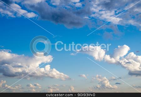 sky background  stock photo, Blue sky background with a tiny clouds     by Vitaliy Pakhnyushchyy