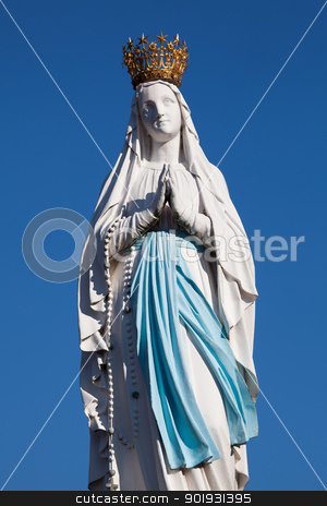 Virgin of Lourdes, High Pyrenees, France stock photo, Virgin of Lourdes, High Pyrenees, France by B.F.