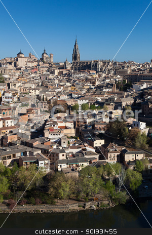 Panoramic of Toledo, Castilla la Mancha, Spain stock photo, Panoramic of Toledo, Castilla la Mancha, Spain by B.F.