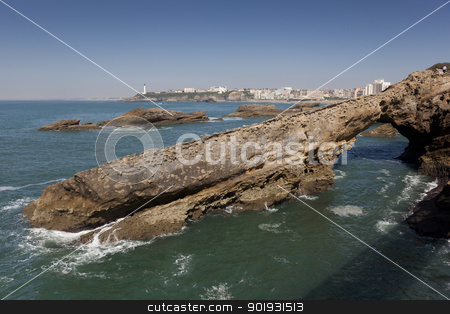 Sea in Biarritz, Aquitaine, France stock photo, Sea in Biarritz, Aquitaine, France by B.F.