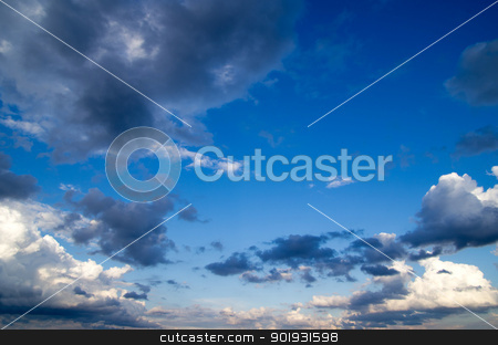 sky  stock photo, Blue sky background with a tiny clouds     by Vitaliy Pakhnyushchyy